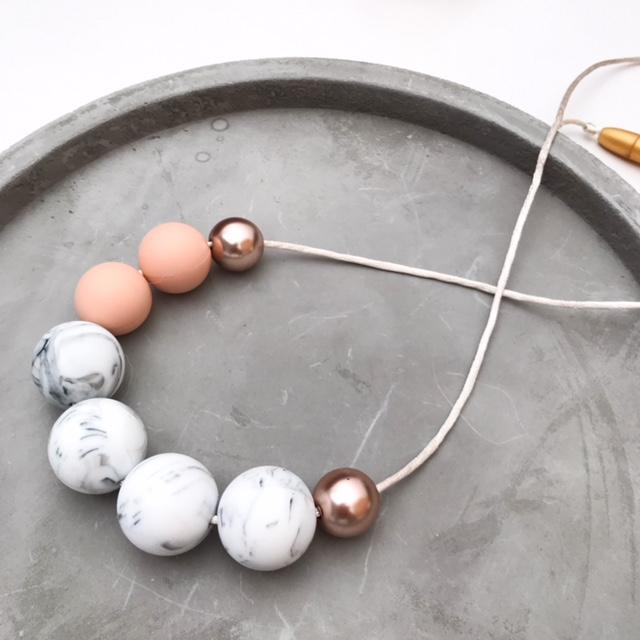SOPHIA Silicone Necklace - Necklaces - ONE.CHEW.THREE Boutique teething, modern accessories