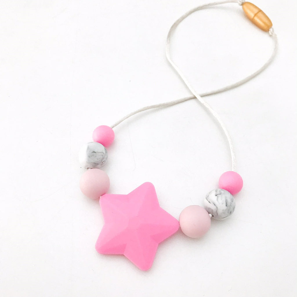 STAR 'Mini Me' Kids Silicone Necklace (3 years +) - Necklaces - ONE.CHEW.THREE Boutique teething, modern accessories