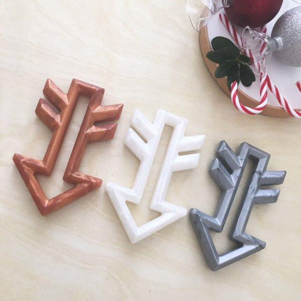 ARROW Silicone Teether - Limited Edition X'MAS Metallics - Teethers - ONE.CHEW.THREE Boutique teething, modern accessories