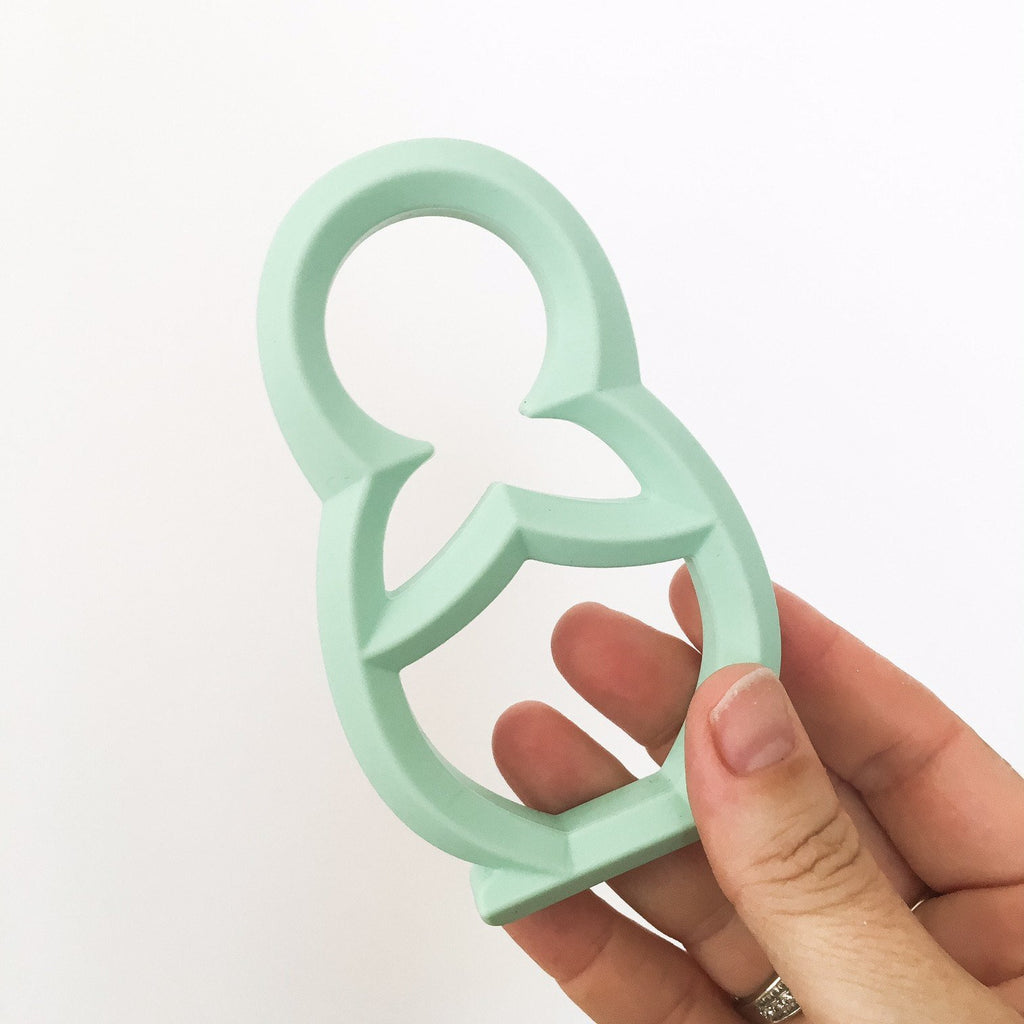 BABUSHKA Silicone Teether - Teethers - ONE.CHEW.THREE Boutique teething, modern accessories