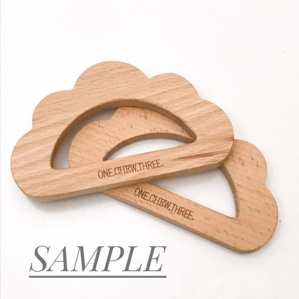 Exclusive Natural Beech Wood Teethers **Sample Sale** - Teethers - ONE.CHEW.THREE Boutique teething, modern accessories