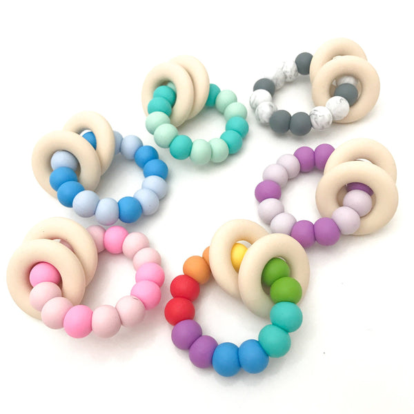 GUMMI Silicone Teether - Teethers - ONE.CHEW.THREE Boutique teething, modern accessories