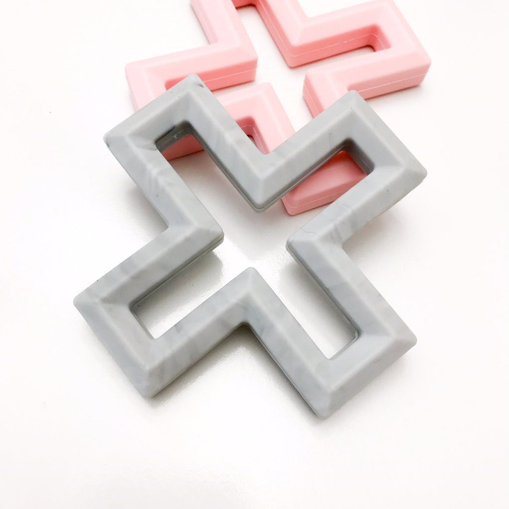 SWISS CROSS Silicone Teether - Teethers - ONE.CHEW.THREE Boutique teething, modern accessories
