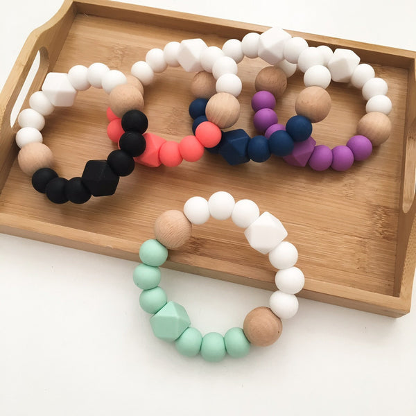 TEXTURED Silicone Teether - Teethers - ONE.CHEW.THREE Boutique teething, modern accessories