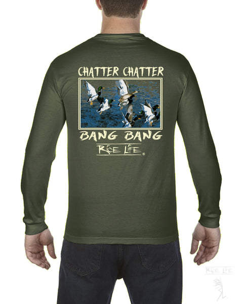 Chatter Chatter Bang Bang Mens Long Sleeve T-Shirt