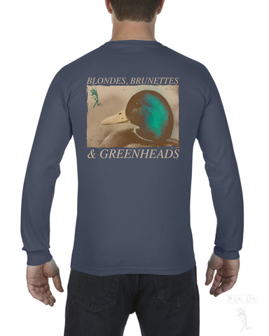 Blonde's Brunette's & Greenhead's Mens Long Sleeve T-Shirt