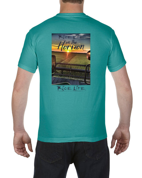 Rice Life on the Horizon Mens Short Sleeve T-Shirt
