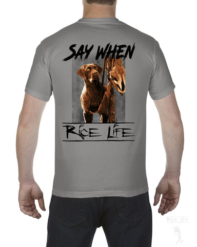 Say When Mens Short Sleeve T-Shirt