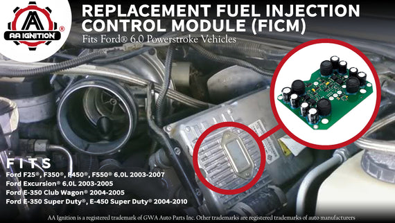 FICM 6 0 Powerstroke Replaces# 904-229 - Control Module For Ford
