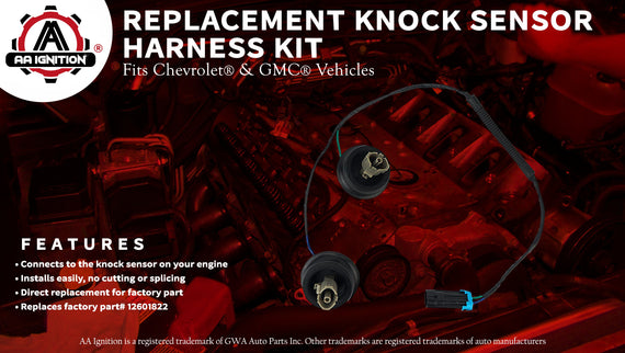 Knock Sensor Wire Harness Kit Replaces 12601822, 917-033 For ... on chevy s10 knock sensor wiring, chevy silverado knock sensor replacement, chevy knock sensor connector, chevy knock sensor cover,