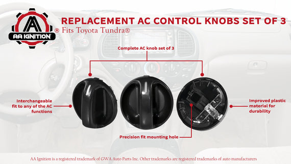 Toyota air Conditioning Heating knob Switch Fits Toyota Tundra 1999,2000 3 pases Air Conditioner Replacement Switch,Replacement for The Part# 55905-0C010- 2005 2002 2001 2004 2003 2006