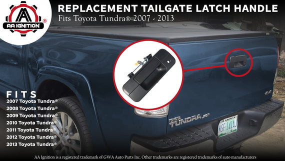 Replaces# 69090-0C040 690900C040 Tailgate Handle Liftgate Latch Handle with Keyhole 81213 for 2007-2013 Toyota Tundra