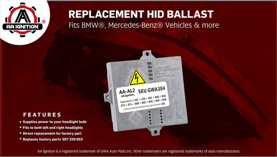 HID Xenon Ballast - Replaces# 307 329 053 - Fits BMW