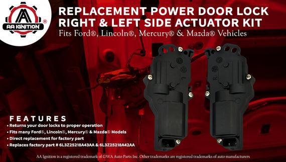 Brand New Door Lock Actuator Set of Right and Left Side For Ford Mercury Lincoln