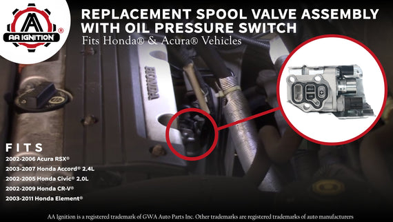 Spool Valve Assembly VTEC Solenoid - Replaces# 15810RAAA03