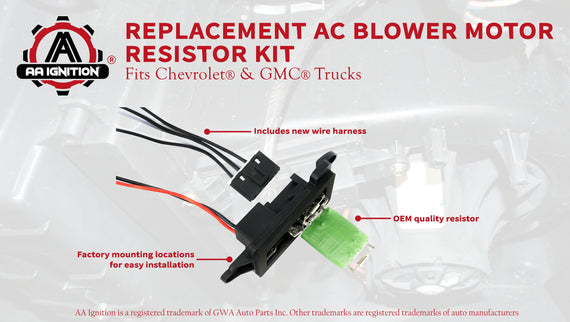 AC Blower Motor Resistor Kit With Harness - Replaces ... on