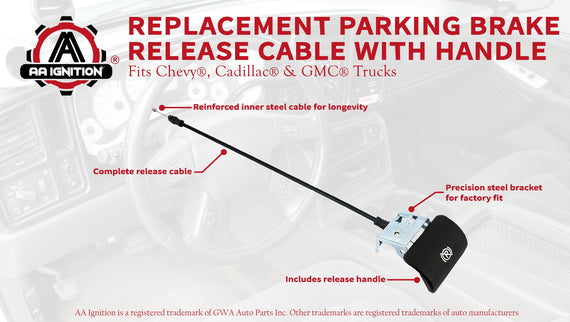 Emergency Parking Brake Release Cable for GMC Chevy Chevrolet