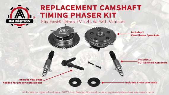 Variable Camshaft Timing Cam Phaser Kit - Fits Ford Vehicles 5 4L