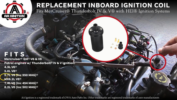 Replacement Inboard Ignition Coil - Fits MerCruiser