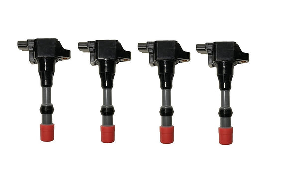 Ignition Coil Pack Set of 4 - 2003-2011 Honda Civic 1.3L Hybrid Replaces# 30521-PWA-S01