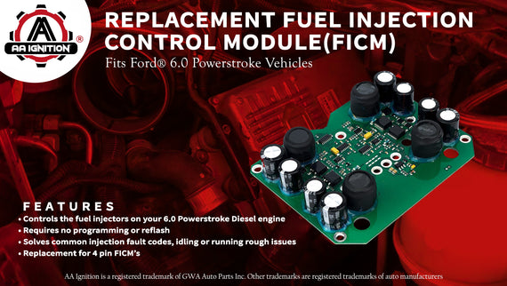 New Fuel Injection Control Module For Ford F250 F350 F450 F550 6.0L 2003-2007 Ford Excursion with the 6.0 Powerstroke Diesel engine Replace # 904-229