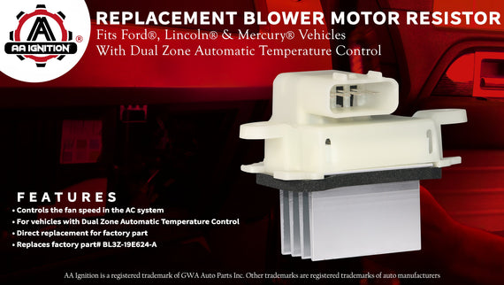 AC Blower Control Module Resistor - Replaces# YH-1829