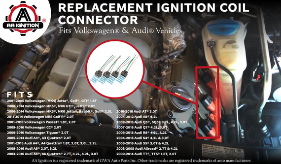 Ignition Coil, Coil Pack Replacement Connector - Harness ... on
