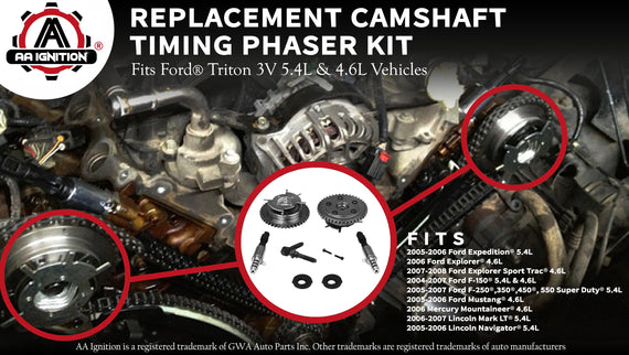 Variable Camshaft Timing Cam Phaser Kit Fits Ford Vehicles