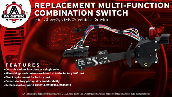 Multi-Function Combination Switch - Turn Signal, Wiper