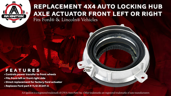 WEILEITE 7L1Z-3C247-A 4Wheel Drive 4x4 4WD Hub Locking Actuator Compatible With Ford Expedition 2003-2015 Ford F150 2004-2015 Lincoln Mark 2006-2008 Lincoln Navigator 2003-2015 Replaces 600-105