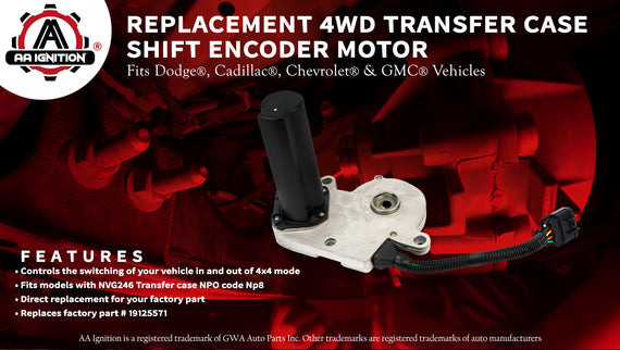 4WD Transfer Case Shift Encoder Motor - Replaces# 19125571 - For
