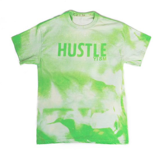 YISM - HUSTLE ACID WASH TEE