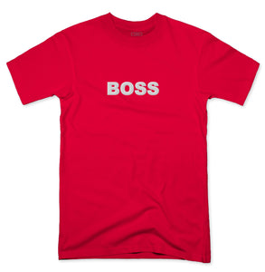 YISM - EMBROIDERED BOSS TEE (WHITE)