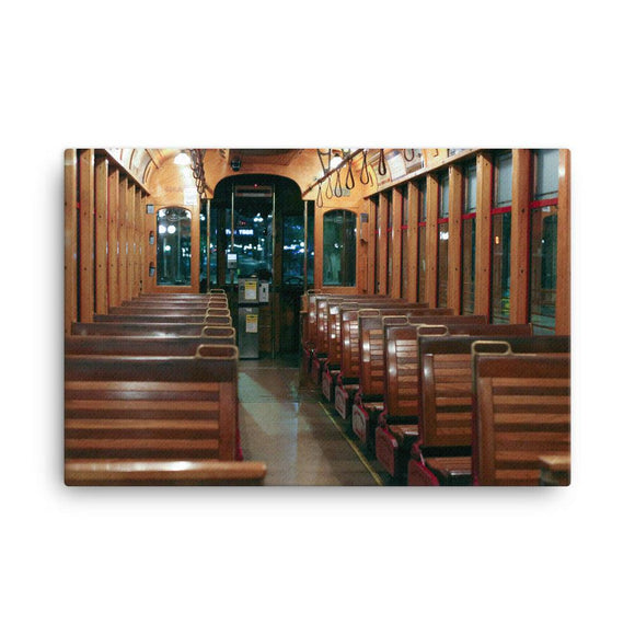 Night on the Trolley - Canvas
