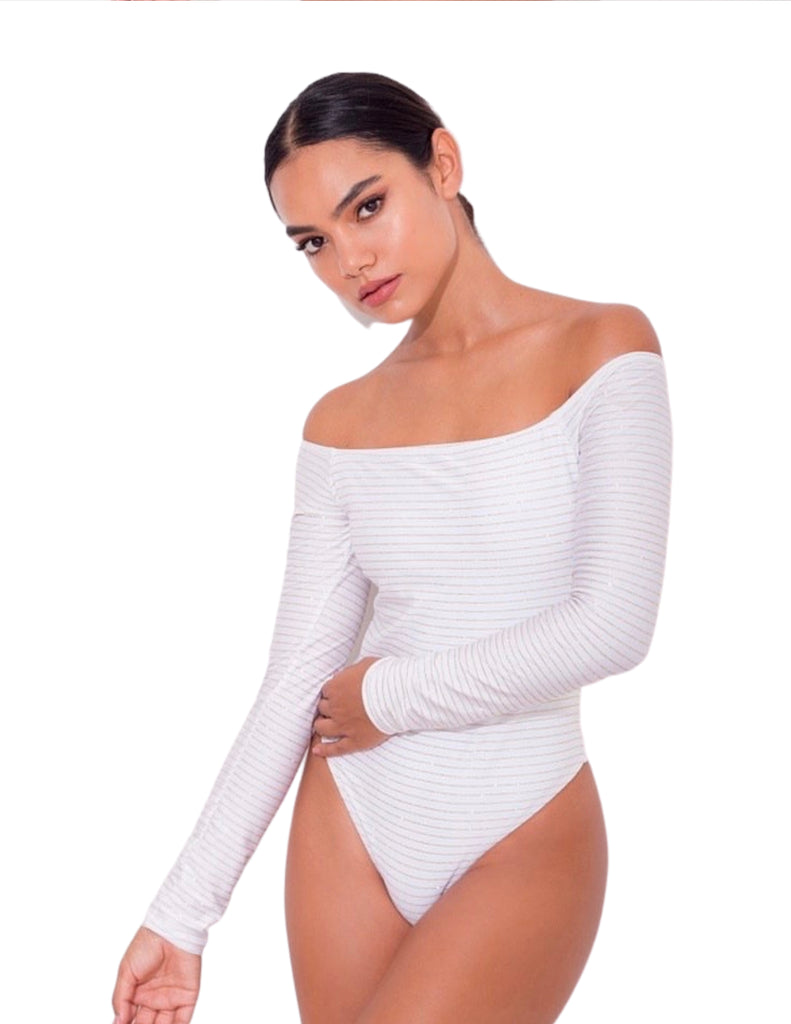 Long Sleeve Off Shoulder -Bianca One Piece Swimsuit