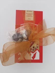 Hand Painted Bonbons and 6 Chocolate Bar Gift Set