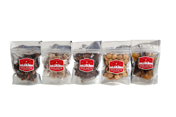 6 piece Artisan Snack Packs  (Custom Selection) - Solasta Chocolate, Vancouver