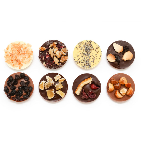 (NO GLUTEN ADDED) Artisan Chocolate Medallions - Dark & Assorted (Set of 2 boxes) - Solasta Chocolate, Vancouver