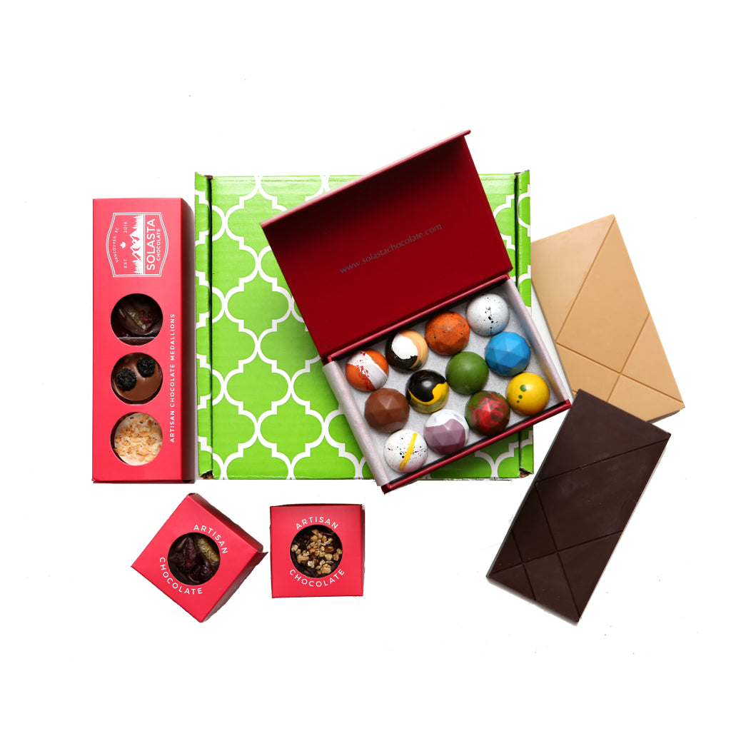 (NO GLUTEN ADDED) Assorted Chocolate Collection Gift Set - Solasta Chocolate, Vancouver