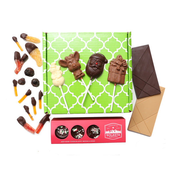 (NO GLUTEN ADDED) Holiday Assorted Chocolate Collection Gift Set - Solasta Chocolate, Vancouver