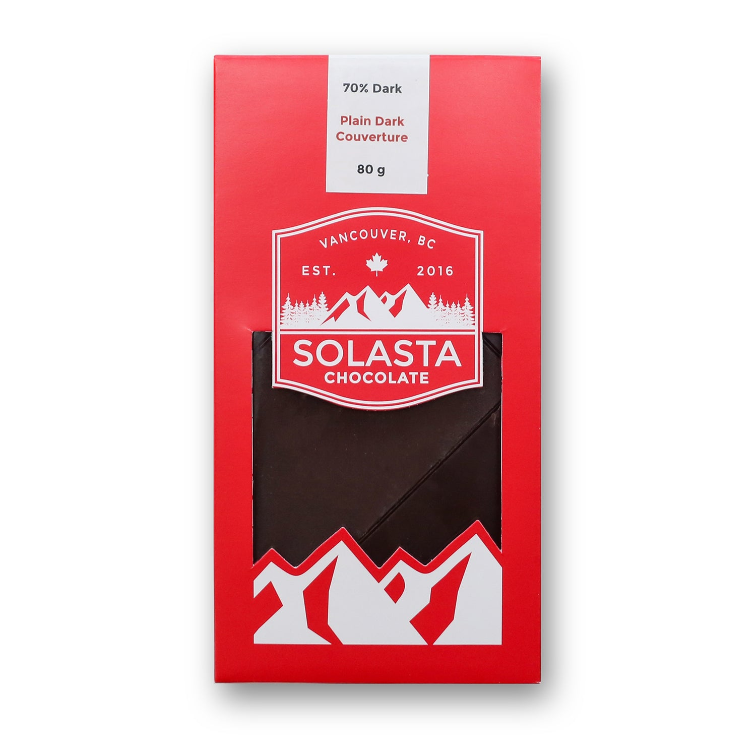 70% plain dark chocolate, Solasta Chocolate, Vancouver, BC