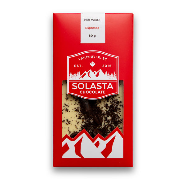 White Chocolate and Espresso Beans - Solasta Chocolate, Vancouver