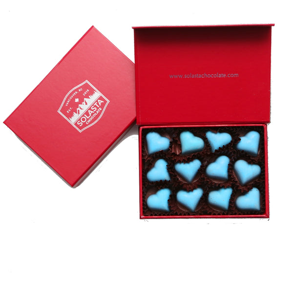 Heart Shaped Salted Caramel Box - Solasta Chocolate, Vancouver