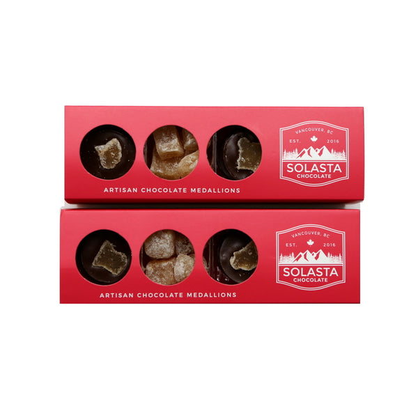 (VEGAN & NO GLUTEN ADDED) Ginger Lover Box (Set of 2 boxes) - Solasta Chocolate, Vancouver