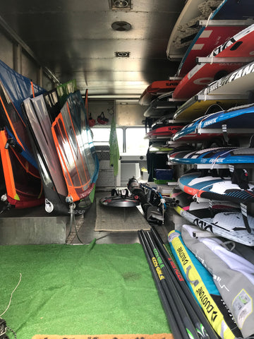 Delta Windsurf Rental Demo Gear Truck