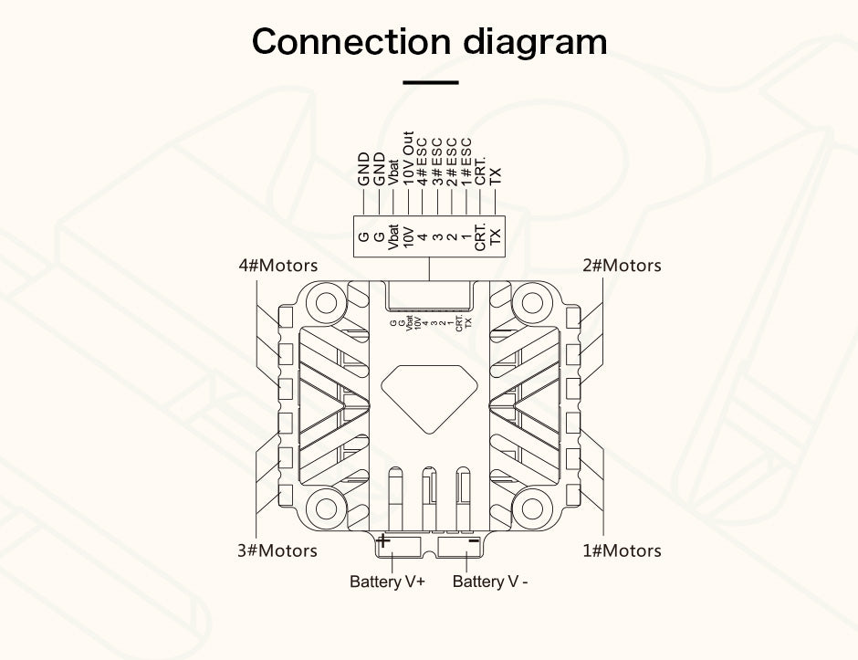 T-Motor Velox 45A Connection Diagram