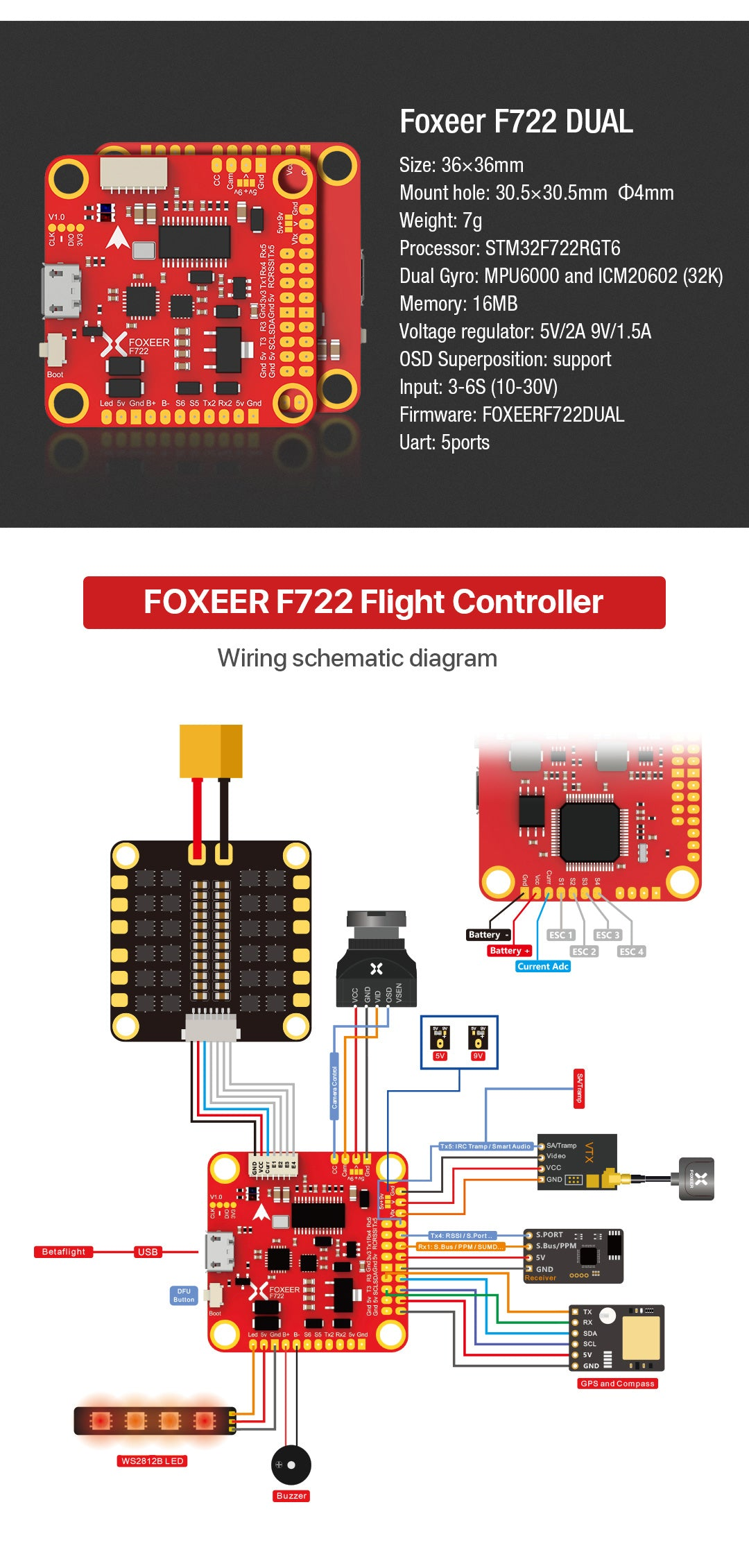 Foxeer F722 Dual Flight Controller