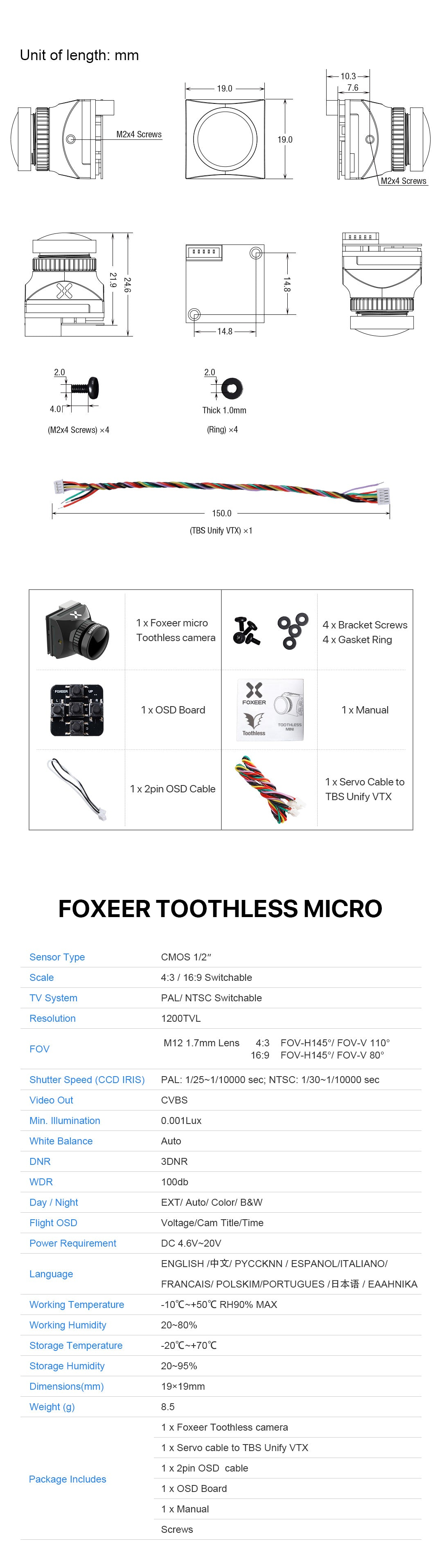 Foxeer Toothless Micro FPV Camera