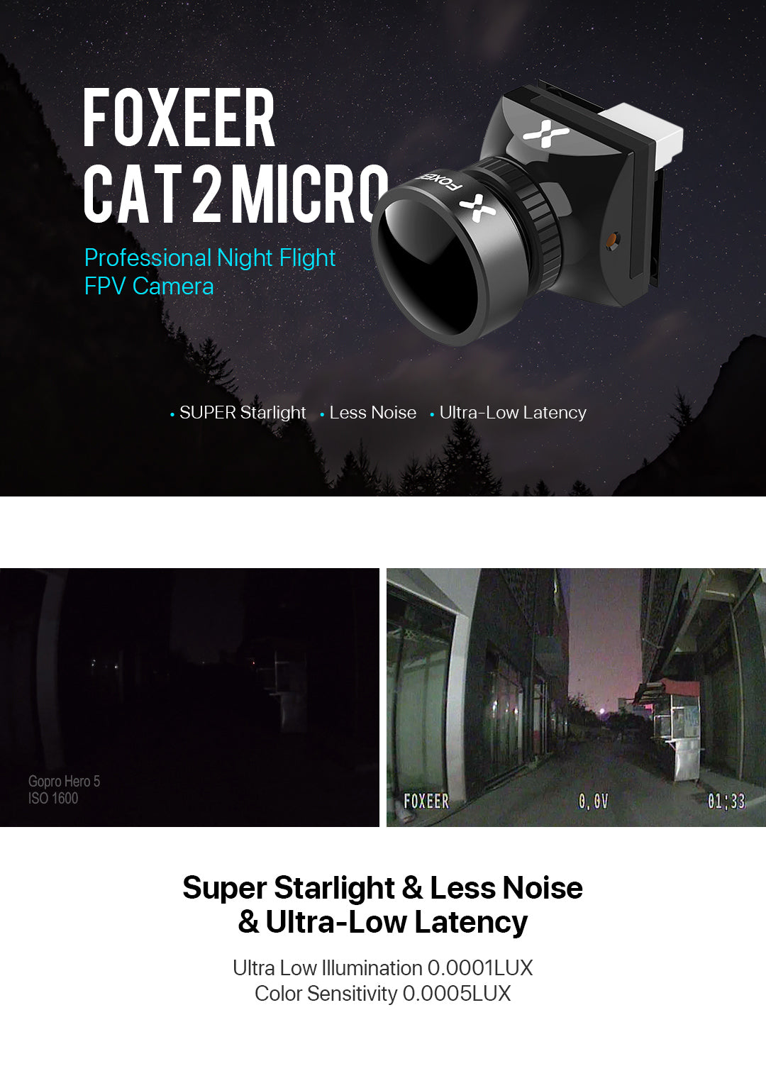 Foxeer Cat 2 Mini Super Starlight FPV Camera