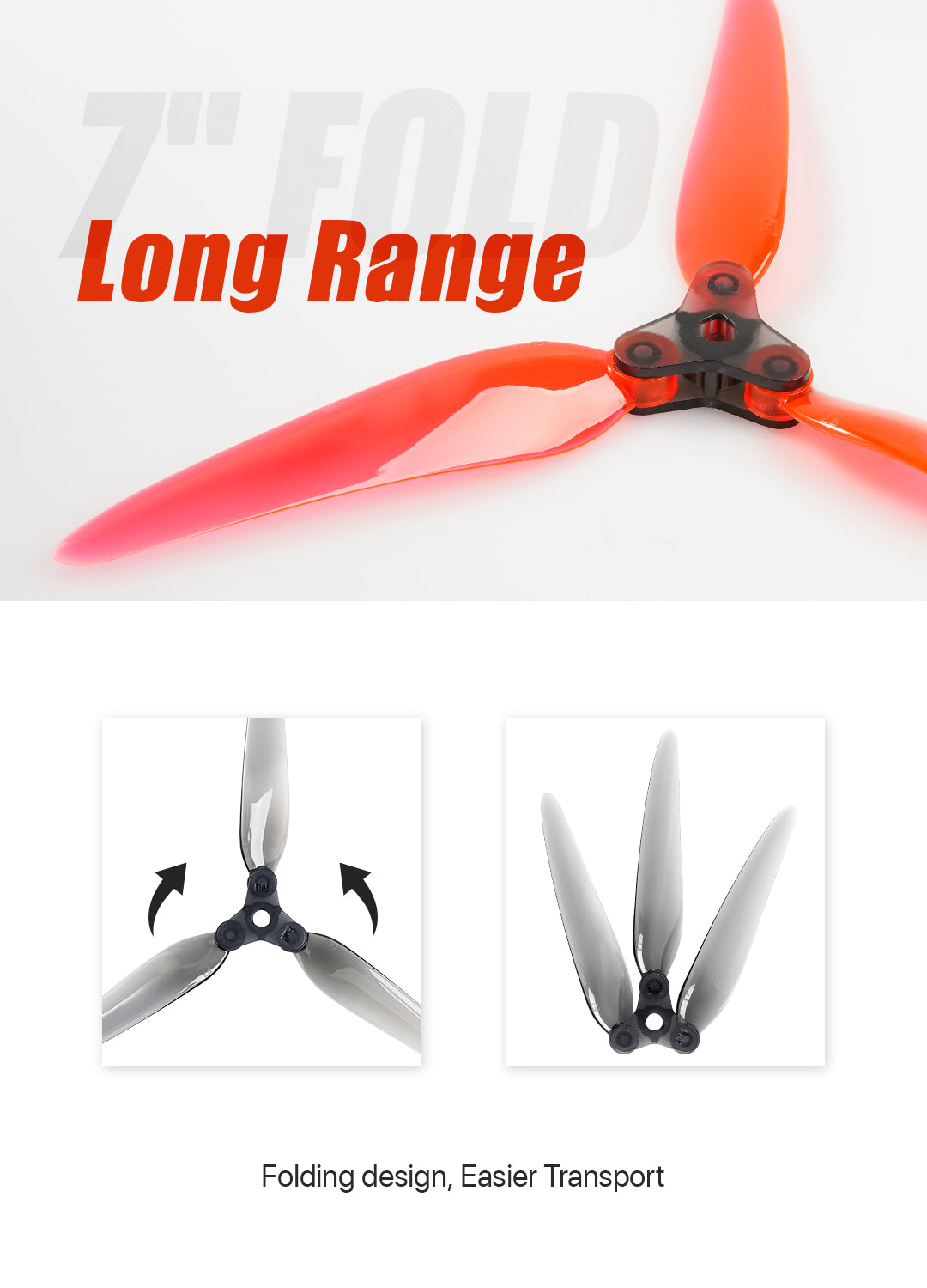 "DALPROP Fold 7"" Folding Propellers"